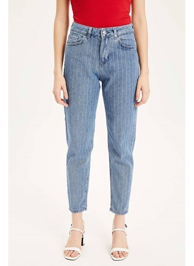 DeFacto Lina Mom Fit Denim Pantolon Mavi